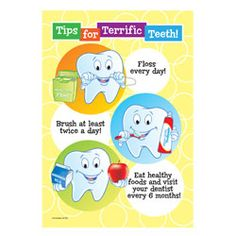 """Terrific Teeth Tips Poster"""