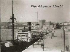 Vista del puerto. Años 20