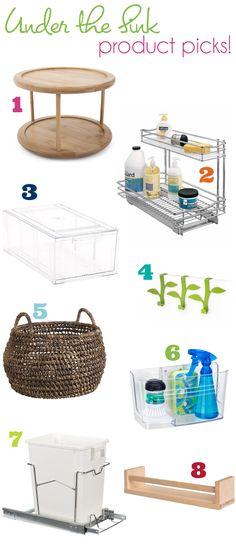 organize this: under the sink!
