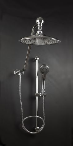 Atlantis Rain Shower Heads with Powerful Handheld Oversized 10 inch Diameter Stainless Rainfall Shower Head with 260 spray tips Deluxe Adjustable Hand Held 3 Position Shower Head 13 inch High Rise Shower Arm, adds Showering Space Small Bathroom With Shower, Master Shower, Bathroom Ideas, Master Bathroom, Small Bathrooms, Handicap Bathroom, Small Baths, Bathroom Closet, Bathroom Makeovers