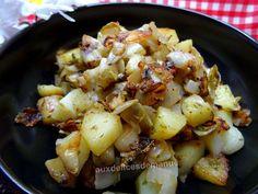 Pommes de terre et endives sautées au beurre maison à l'ail et au persil Potato Salad, Recipies, Menu, Ethnic Recipes, Desserts, Food, Meal Ideas, Frugal, Gratin