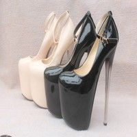 Sexy ultra high heels women pumps platform thin heels single shoes japanned leather women shoes heel plus size Extreme High Heels, Very High Heels, Hot High Heels, Platform High Heels, Sexy Heels, Womens High Heels, Stiletto Heels, Thick Heel Boots, Thigh High Boots Heels