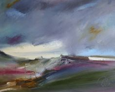 ROSANNE BARR - Heather Hills.Her 'lands of escape' capture the movement and atmosphere of the rugged Scottish coastline, which provides her with an.ever-changing source of inspiration. £890