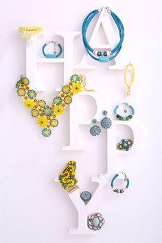#bydziubeka #happy #letters #jewellery #jewelry