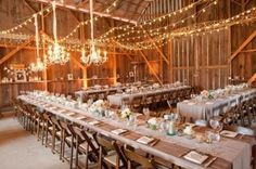30 Wedding Long Tables And Receptions Ideas | Weddingomania...LOVE the lighting!