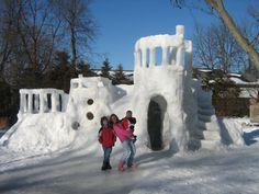 Crazy Snow Fort!