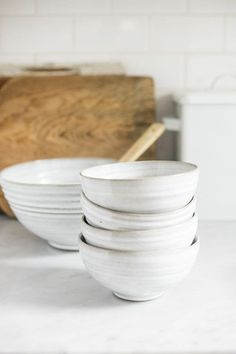 Hand Thrown Ceramic Bowls by Seattle artist!