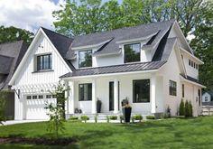 New Ideas house exterior design modern farmhouse plans Exterior Siding, Exterior House Colors, Exterior Design, Siding Colors, Exterior Windows, Black Exterior, Roof Design, Gray Siding, Design Homes