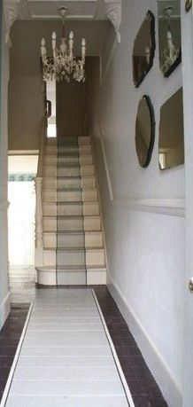 painted stairs and runner...