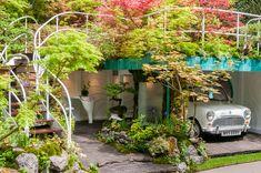 Senri-Sentei: A Garage Garden Designed by Landscape Artist Kazuyuki Ishihara