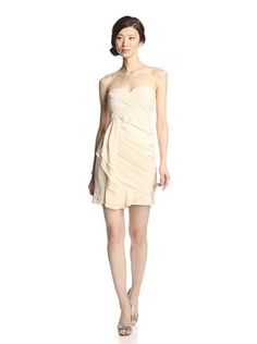Minuet Women's Tulip Dress with Pleats (Cream)