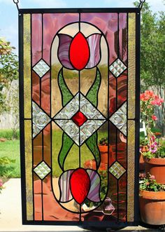 "Stained Glass Window Panel ""Bejeweled"""