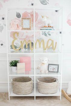 Baby Emma's Nursery Reveal - Eat Yourself Skinny Baby Emma's pink floral nursery Nursery Room, Nursery Decor, Nursery Ideas, Playroom Ideas, Baby Room, Room Decor, Pink Laundry Rooms, Baby Girl Nursery Themes, Bookshelves Kids