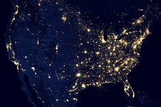 America, black marble, NASA project Earth And Space, Cosmos, Earth At Night, Les Satellites, Marbles Images, Nasa Images, Nasa Photos, Nasa Pictures, Hd Photos