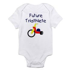 Triathlete baby. @Dayna Crawford This is what I expect to get from you for my first kid.