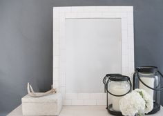 DIY Subway Tile Mirror | House of Earnest