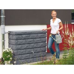Rocky Wall Tank - Granite, 106 Gallons - Rainwater Collection and Stormwater Management