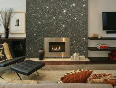 Inspiring Glitter Wall Paint To Make Over Your Room 12