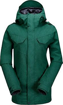 Volcom Wing Insulated Jacket - Women's - Free Shipping - christysports.com - Hunter Green - Forest - Snowboarding Jacket