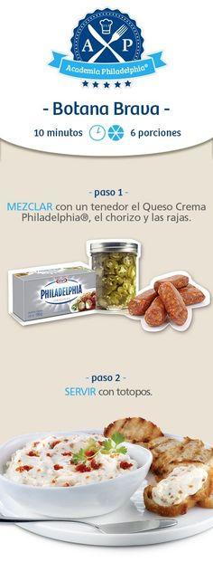 #Botana #brava #recetas con #Philadelphia