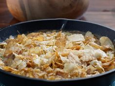Tuna Noodle Casserole with Potato Chip Topping recipe from Valerie's Home Cooking via Food Network