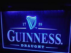Guinness Vintage Logos Beer Bar LED Neon Light Sign home decor shop crafts #Unbranded #Modern