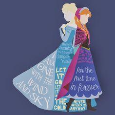 Elsa & Anna #Frozen #Disney