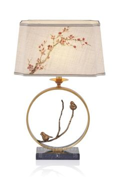 New Chinese style lamp【最灯饰】新中式鸟语花香台灯