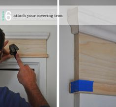 Home Remodeling - You Can Survive Your Home Improvement Project With These Great Tips - Modern Home Decor DIY Home Renovation, Home Remodeling, Casa Clean, Moldings And Trim, Door Frame Molding, Faux Crown Moldings, Door Frame Repair, Creation Deco, Trim Work