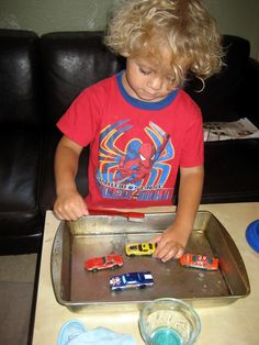 Simple Toddler Car Wash - perfect for the #boys and so easy