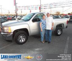 #HappyAnniversary to Elmer Dukes on your 2013 #Chevrolet #Silverado 1500 from Aaron Shieldnight  at Lake Country Chevrolet Cadillac!