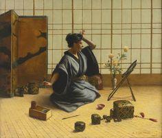 EUGENE ARMAND LACHAISE 1857 - 1925 A JAPANESE ROOM