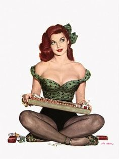 Red head pin-up, I don't remember posing for this :)
