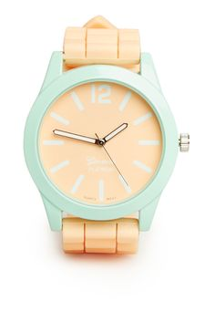 DailyLook: Pretty Pastel Silicone Watch-- in love with this color combo!