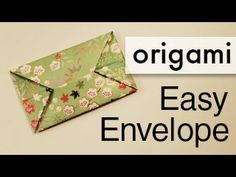 Easy Origami Envelope - YouTube