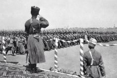 Nicholas saluting his troops at Tsarskoe Selo