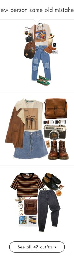 """""""new person same old mistakes"""" by alice-a-v-g ❤ liked on Polyvore featuring Chicnova Fashion, Yves Saint Laurent, Veras, Madewell, Topshop, 1928, Vans, indie, Punk and grunge"""