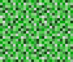 Minecraft Inspired Creeper Pixels - Green...can get in wallpaper or fabric