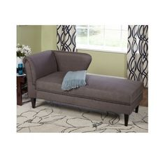 Gray Chaise Storage Lounge Chair Sofa Loveseat for Living Room or Bedroom Jaz /  sc 1 st  Pinterest : storage chaise lounge furniture - Sectionals, Sofas & Couches