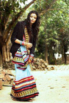 lovely saree with black jacket