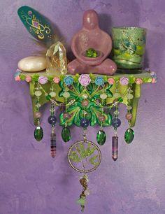 Fairie Tree Mini Wall Altar - OOAK Pagan/Fantasy Decor