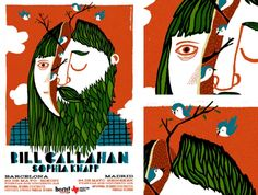 Bill Callahan : Abel Cuevas - Posters & Drawings Bill Callahan, Poster Drawing, Posters, Drawings, Illustration, Animals, Design, Animales, Animaux