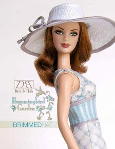 Sewing pattern for 11 1/2 inch fashion dolls: Brimmed Hat