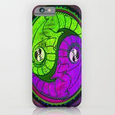 Yin - Yang Equality Dragons Fractal Repeating Pattern Psychedelic Optical Illusion Design #2 iPhone & iPod Case