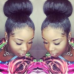 Beautiful edges! Love! @ivyleaguestyles #bun #edges #hairstyle #kinkyhair #hair #beautiful #quickweave Coco Black Hair provide the most natural looking hair and wigs Change yourself today!
