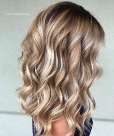 Perfect Sandy Blonde Balayage Hair