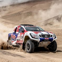 """""""Off-road rallies have nothing on the Red-Lined Adventure pickup. Road Race Car, Road Rally, Off Road Racing, Rally Car, My Dream Car, Dream Cars, Pajero Off Road, Nissan Trucks, Trophy Truck"""
