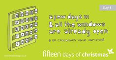 It's okay if there are a few more than 4 days missing from your advent calendar, we won't tell anyone #fifteendaysofxmas