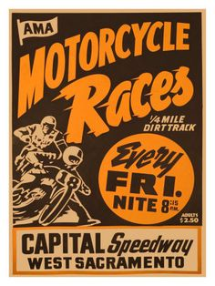 Capital Speedway, California Impressão giclée