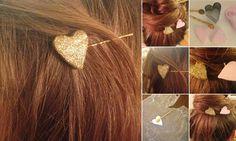 DIY Heart Hair Pins | Ruffled Paper